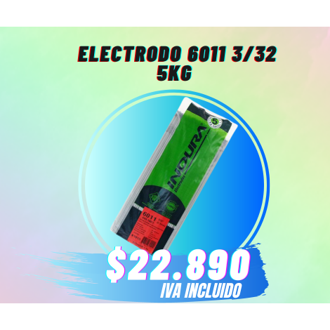 ELECTRODO 6011 3/32 INDURA